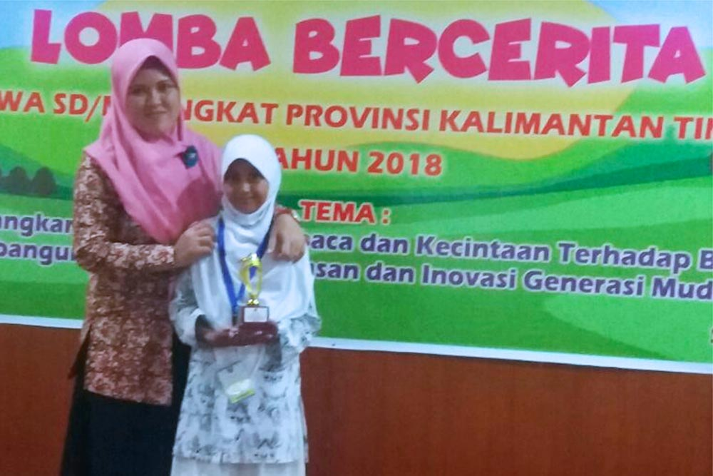 Nabilah Laeliyah Rusdi, Siswi SD IT YABIS Juara Lomba Bercerita Tingkat Provinsi